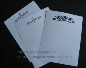 Black on White notecards