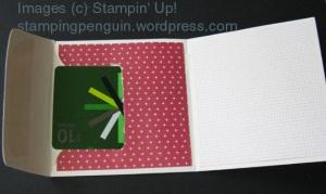 Envelope Card Holder Open