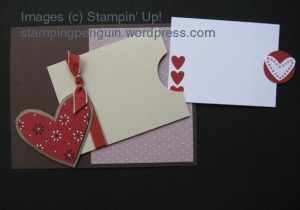 Pocket Card Holder with Note (open)