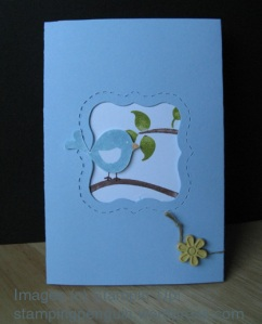 Double fold window card