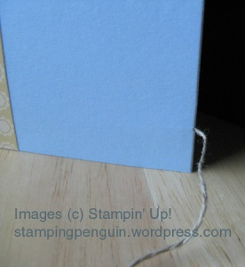 Fold-out card closure string, out of fold