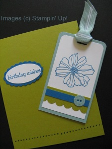 Bookmark for Cindy's card