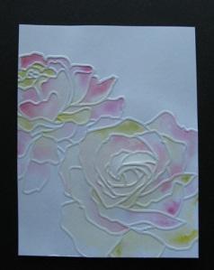 Watercolor Embossing, take 1