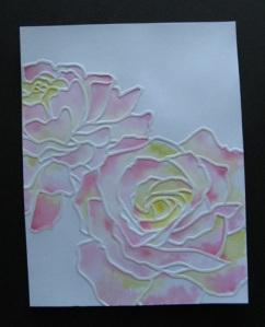 Watercolor embossing, take 2
