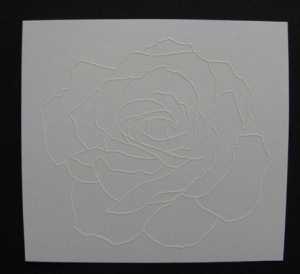 Embossed Rose Image