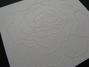 Embossed Rose Image, Closeup