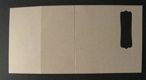 Creased cardstock