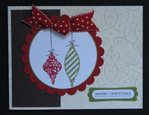Scallop Ornament Card